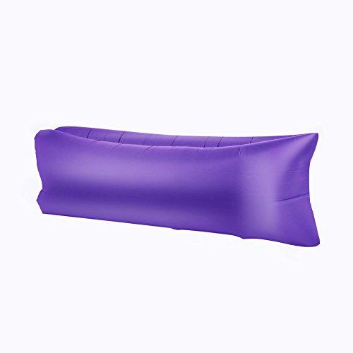 Onetwo colore puro individuo air lounger,contro leggero impermeabile lacrima lettino gonfiabile, spiaggia all'aperto parco adulto sacco a pelo con tasche -d 190x70cm(75x28inch)