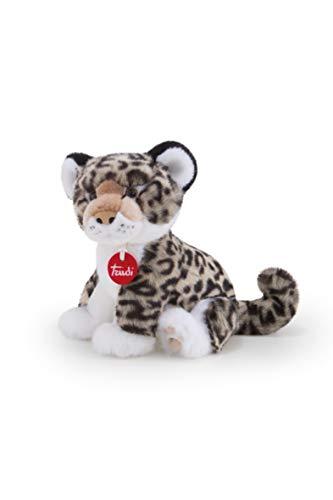 Trudi- Leopardo Gris Leopoldo Peluche, Color Blanco, S (27601)