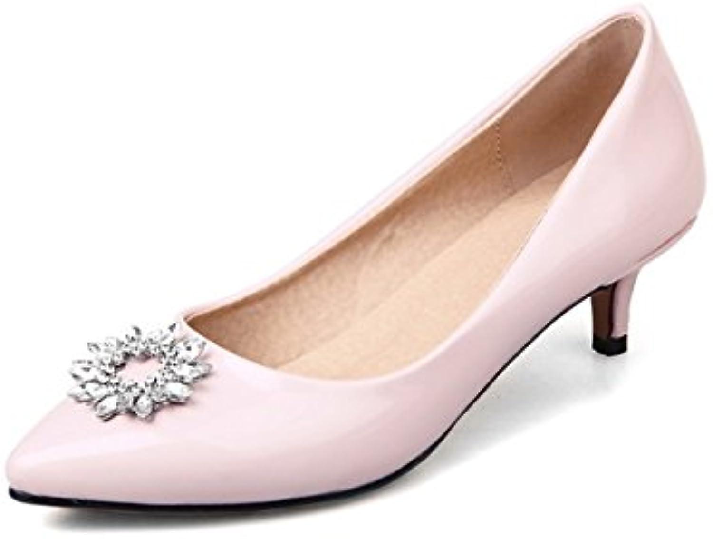 DIMAOL Damenschuhe Lackleder Frühling Herbst Komfort Heels Stiletto Heel Schuhe Strass für Outdoor Büro & Karriereö
