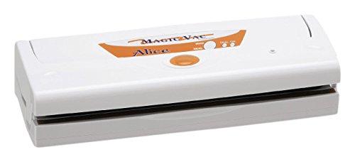 Magic Vac Alice 800 mbar Blanc appareil à emballage sous vide - envasadora sous vide (couleur blanc, 800 mbar, 380 mm, 140 mm, 90 mm, 2,3 kg)