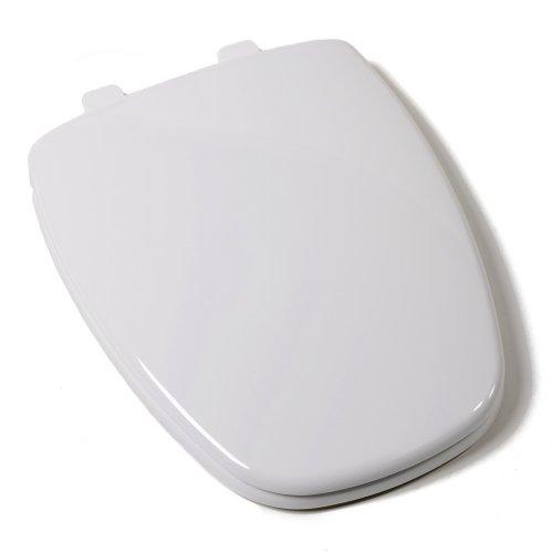 Comfort Seats C1050S00 EZ Close Premium Eljer New Emblem Design Plastic Toilet Seat, Elongated, White by Comfort Seats