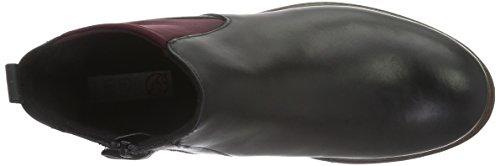 Lepi 4145leq, Bottes courtes avec doublure chaude mixte enfant Noir - Schwarz (4145 C.01 Nero)