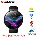 LEMFO LEM7 4G Smart Watch Android 7.0 2MP Camera GPS WiFi MTK6737 1GB