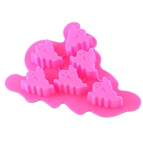 Kreative Halloween Silikon Eiswürfelform Fledermäuse Geister Seepferdchen Design Eiswürfel zum Aufhängen Obst Eisbox B