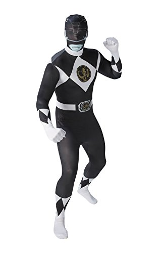 Black Kostüme Power Ranger Verkleidung (Mighty Morphin Power Rangers Black Ranger - Adult 2nd Skin Costume Men :)