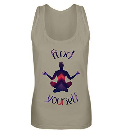 Meditation - Meditieren - Innere Ruhe & Achtsamkeit - Mindset - Shirt - Geschenkidee - Frauen Tanktop -XL-Khaki
