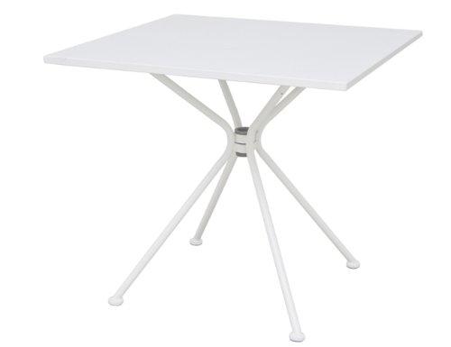 Siena Garden 800702 Tisch Belo, Stahlgestell matt weiß, 80 x 80 x 72 cm