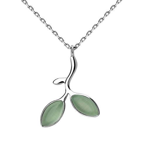 Diss JM Halskette- Kreative Knospe Anhänger Halskette weiblich, Student einfache Sterling Silber Schlüsselbein Kette (Color : Silver, Size : 1.1x1.5cm)