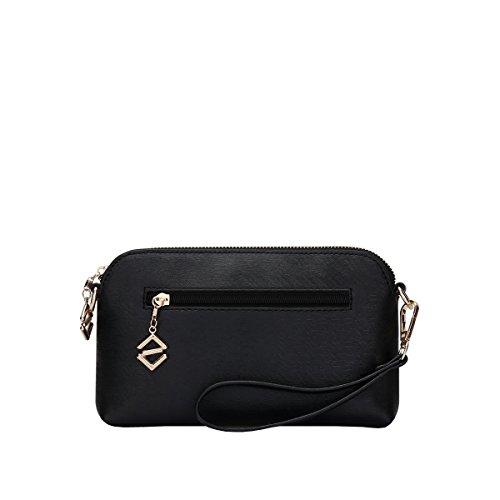 DISSA S827 neuer Stil PU Leder Deman 2018 Mode Schultertaschen handtaschen Henkeltaschen,225×30×130(mm) Schwarz
