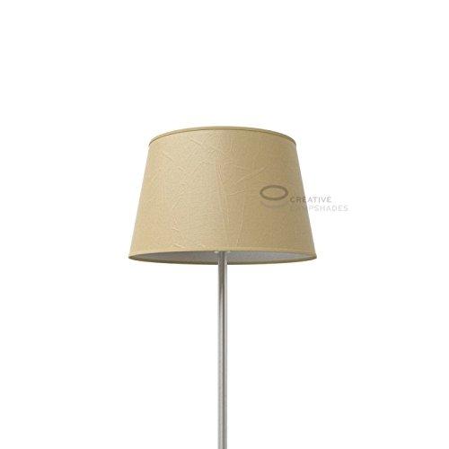 Creative Lampshades Oval verkleideter Lampenschirm Jute Palmenblatt - Unteren D. 31x22 cm-Uberen d. 25x17 cm- H. 20 cm, E27 Für Standleuchten (Ovale Palmenblatt)
