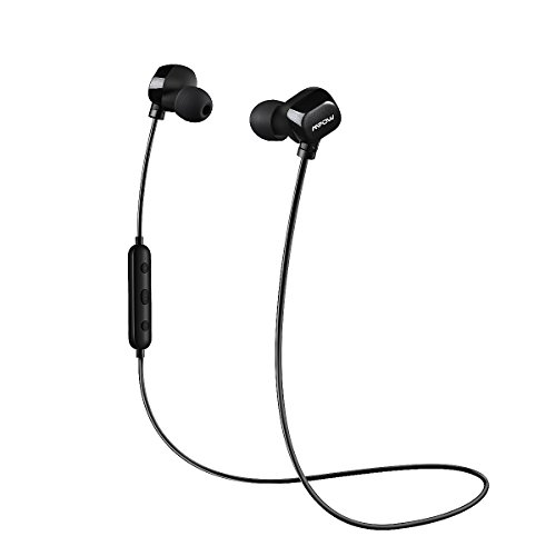 Bluetooth Running Headphones Mpow Sports Wireless Earphones, In-ear Sweatproof Sports Earbuds for Running, Gym - Black ( Bluetooth 4.1, CVC6.0 Noise Reduction, Headphone Carrying Case Bag Included )