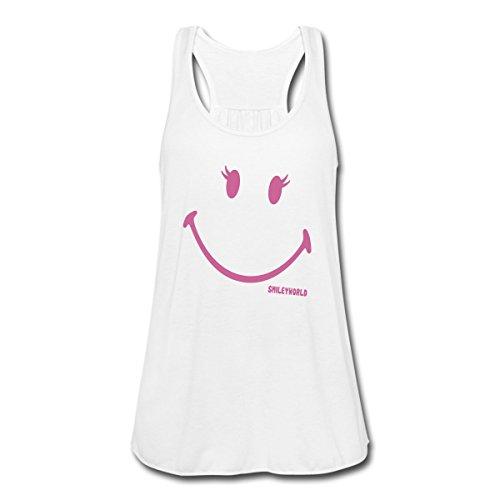 Smiley World Paillettes Souriant Fille Débardeur Femme marque Bella de Spreadshirt® Blanc