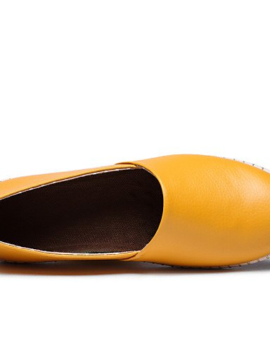 ZQ gyht Scarpe Donna-Mocassini-Tempo libero / Casual-Punta arrotondata-Piatto-Di pelle-Nero / Giallo / Rosso / Arancione / Borgogna , orange-us8.5 / eu39 / uk6.5 / cn40 , orange-us8.5 / eu39 / uk6.5 / burgundy-us6 / eu36 / uk4 / cn36