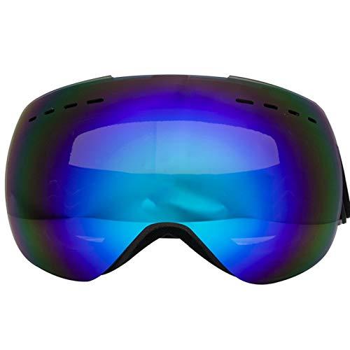 Dräger Schutzbrille Skibrille Doppelt Anti Fog Cola Karte Myopie Große Sphärische Schneespiegel Brille Große Sichtfeld Ski Brille Blue Damen Herren