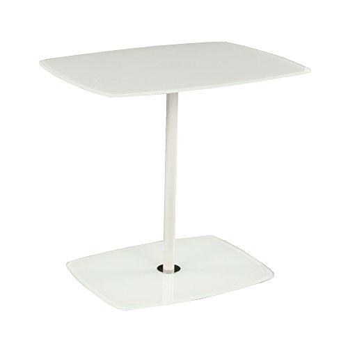 designement Table d'appoint Verre Blanc 62 x 46 x 58 cm