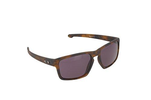 Oakley Herren Sonnenbrille Rahmen: Sliver Matte Brown Tortoise, Lense: Warm Grey, 57