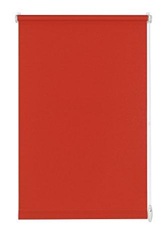 GARDINIA Rollo zum Klemmen oder Kleben, Tageslicht-Rollo, Blickdicht, Alle Montage-Teile inklusive, EASYFIX Rollo Uni, Rot, 90 x 210 cm (BxH)