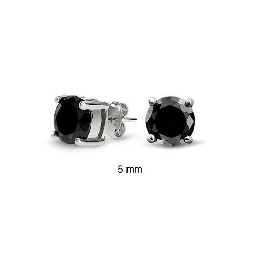 bling-jewelry-mens-unisex-cz-round-black-stud-earrings-925-sterling-silver-5mm