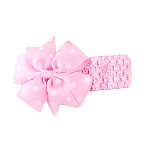 Koly Baby Cute Headbands Girl's Headband Floral Head Wear Hair Bow Wave Bandeau (Pink)