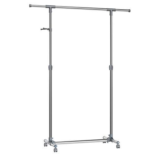 SONGMICS Kleiderständer, Metall, Glau, ((87-150) x 44 x (97-165) cm - Kleiderständer
