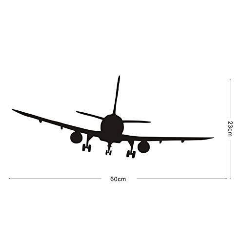 Coole Verkehrsflugzeug Flugzeug Silhouette Wandaufkleber Wohnkultur Wohnzimmer Schlafzimmer Dekor Vinyl Aufkleber Für Kinder Dekoration @ Black_60cm X 23 cm -