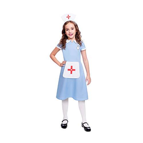 Alte Krankenschwester Kostüm - amscan Das Kostüm für eine Krankenschwester für Kinder enthält Kleid und Kopfbedeckung im Alter von 8 bis 10 Jahren
