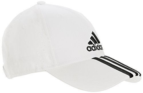 adidas Perf Cap 3S Co - Gorra unisex, color blanco / negro / azul, tal