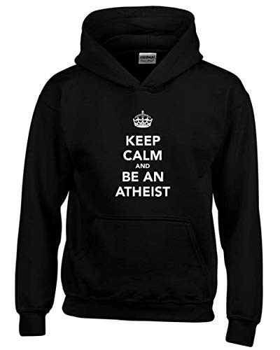 Kapuzen-Sweatshirt fur Kinder Schwarz TKC0532 Keep Calm and BE AN Atheist