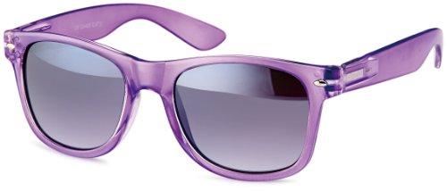 Feinzwirn eyewear Transparente Sonnenbrillen im wayfarer-style, Gestell Halb-transparent in trendigen Pasteltönen, Brillentrends 2014