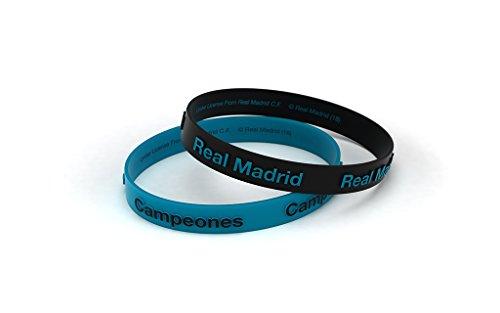 Armband Real Madrid Football Club 3D Blau Türkis Junior für Damen und Kinder, Silikon-Armband, Offizielles Lizenzprodukt -