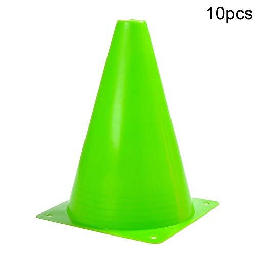 rycnet Windschutzschild, Kunststoff, für Fußball/Basketball, 10 Stück, grün