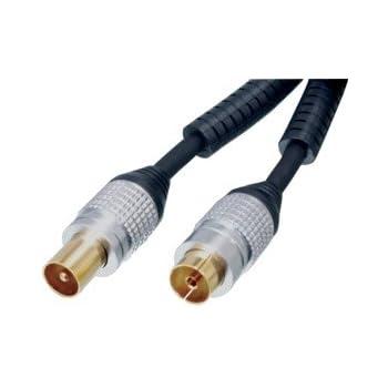 Cable antenne coaxial haute qualité male/femelle. 5Mètres