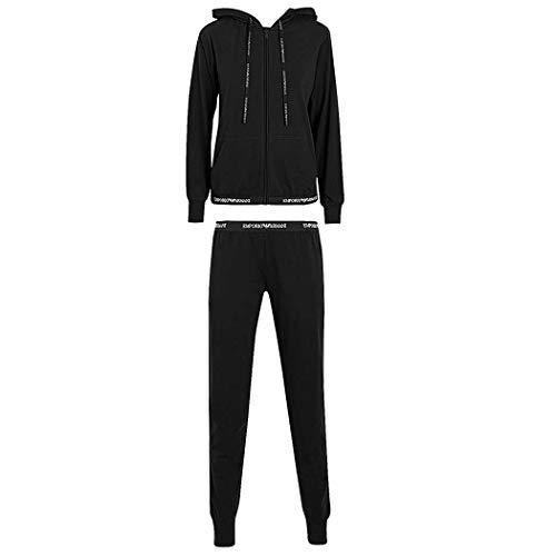 Emporio Armani DAMEN SWEATSHIRT + PANT 164145CC270 (XL, BLACK)