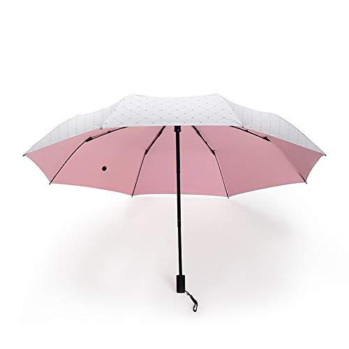 RZJ-umbrella Regenschirm, Reiseschirm, Wind- und UV-Schutz, kompakt und einfach zu tragen,Pink