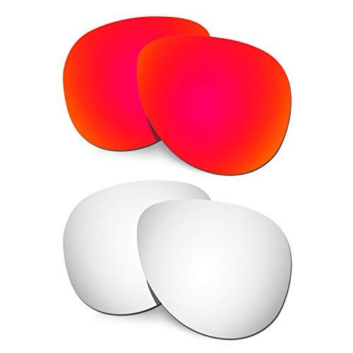 HKUCO Verstärken Ersatz-Brillengläser für Oakley Elmont (Large) Rot/Titan Sonnenbrille