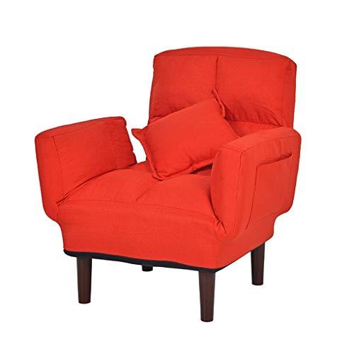 Perfekte Sofa Sleeper (Klappliege Couch Stuhl Sofa Lazy Bed Verstellbarer Gaming Stuhl Lazy Sofa Recliner Bett für Home Office Recliner Couch Sessel Sleeper Freizeit Recliner für Wohnzimmer (Color : Khaki))
