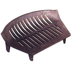 "Inglenook 16"" Fire Grate Cast Iron Stool Coal Log Fireplace Black Front Open Basket"