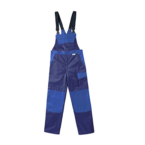 PIONIER 3048–46Latzhose Colore Wave, blau marine/kornblumenblau, Größe 46 (Wave Marine)