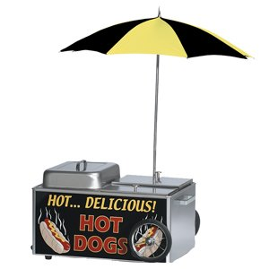 table-chariot-hot-dog-cuiseur-vapeur