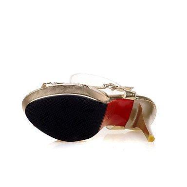 LvYuan Da donna-Sandali-Formale Casual Serata e festa-Comoda Innovativo-A stiletto-Materiali personalizzati Finta pelle-Viola Dorato Argento Gold