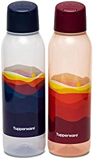 Tupperware Plastic Bottle, 750ML, Set of 2, Red, Blue
