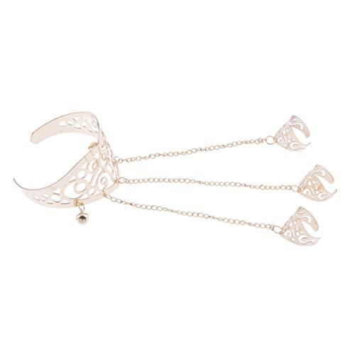 Armkette Handkette mit Ring ausgehöhlt Blumenarmband Armspange für Liebhaber Damen Armband Schmuck