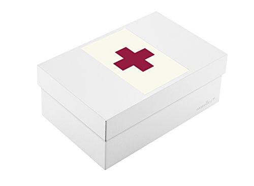 Wandler by Infinity Boxes Boxen-Set 3-TLG, Magnet Kreuz + Metallbox, klein, rechteckig, Creme-weiß