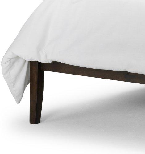 """Happy Beds Santiago Wenge Finish 4'6"""" Double Durable Heava Hardwood Wenge Finished Bed Frame"""