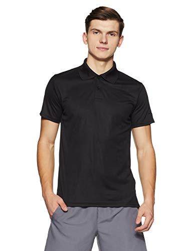 Lotto Men's Plain Regular Fit T-Shirt (CR910282-056_Black_X-Large)
