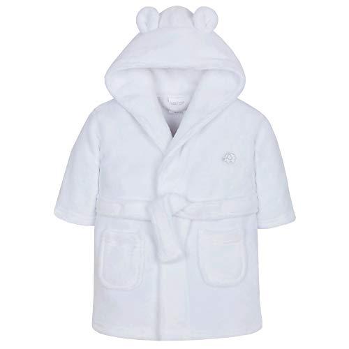 Lora Dora Baby Mädchen Kapuzen Fleece Bademantel Soft Bademantel Größe 6-24Monate Gr. 92, White - Elephant Mädchen Dora