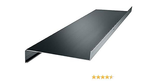 anthrazit Aluminium Fensterbank Zuschnitt auf Ma/ß Fensterbrett Ausladung 280 mm wei/ß silber dunkelbronze