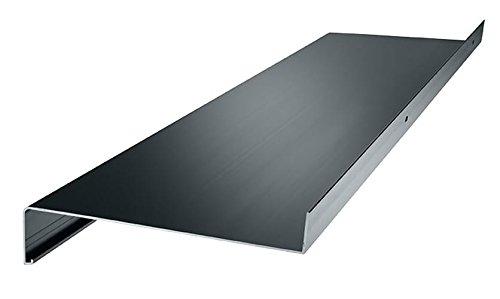 Aluminium Fensterbank Zuschnitt auf Maß Fensterbrett Ausladung 280 mm weiß, silber, dunkelbronze, anthrazit