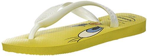 Havaianas Looney Tunes, Tongs Mixte Adulte Jaune (Citrus Yellow)