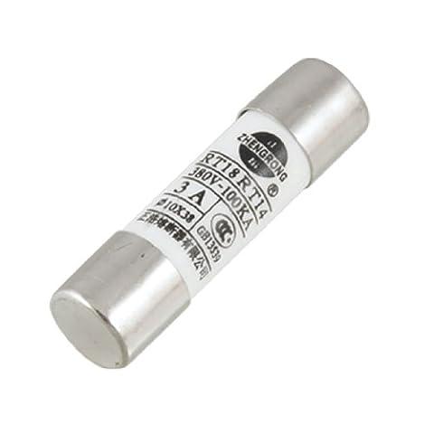 sourcingmap® 10mm x 38mm Keramikrohr zylindrische Sicherung Gerät 380V 3A